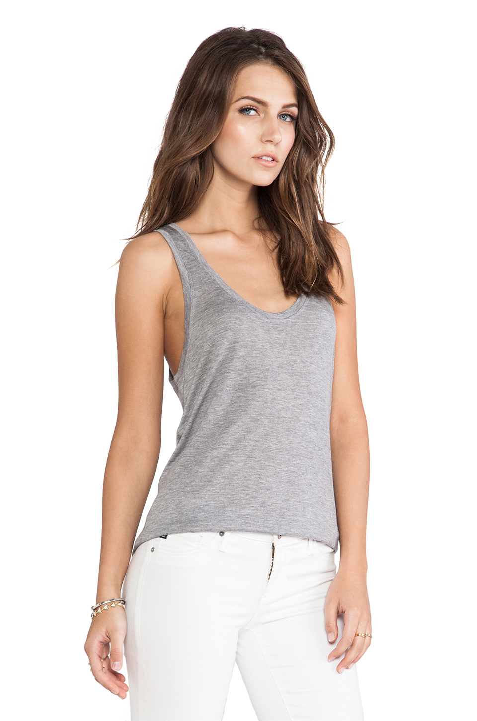 AG Adriano Goldschmied Wren Tank in Heather Grey from REVOLVEclothing.com