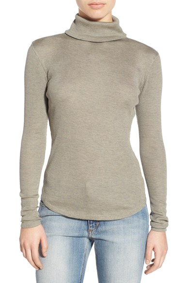 Joe's 'Gayle' Ribbed Silk Turtleneck | Nordstrom
