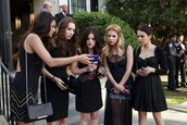 dress,pretty little liars,hanna marin,aria montgomery,spencer hastings,emily fields,ashley benson,mona vanderwall,lucy hale,shay mitchell,troian bellisario