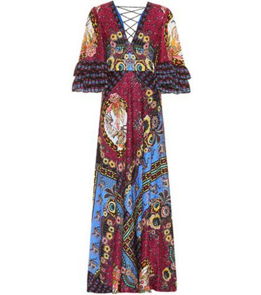 ETRO dress maxi dress maxi silk
