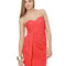 Sultry coral dress - strapless dress - red dress - $62.00