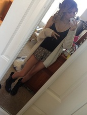 sweater,acacia brinley,shirt,cardigan,black,white,boots,instagram,cross necklace,shoes,shorts,jewels