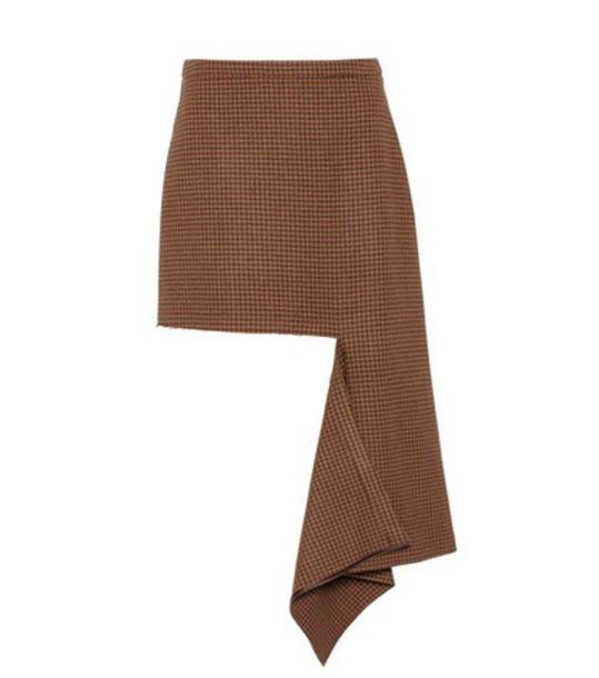 skirt wool brown