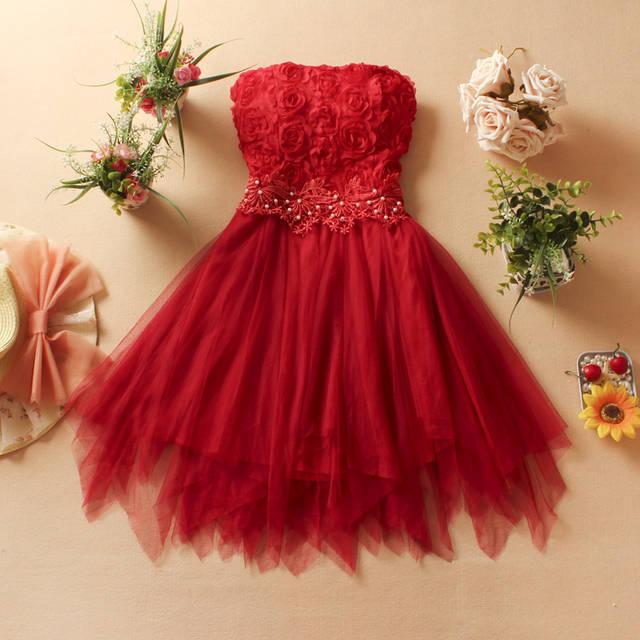 Online shop women party ball gown princess lace dress formal dresses for women q169