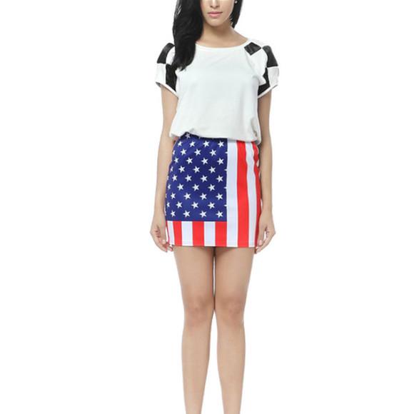 usa flag american flag skirt july4th