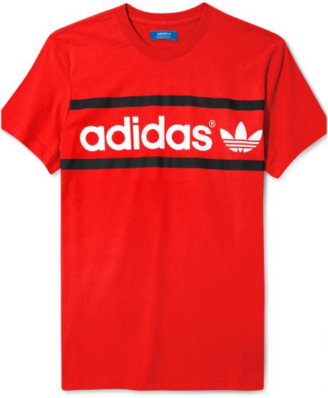 0aef9c241b17 Adidas Originals Heritage Logo T Shirt in Red for Men (Light Scarlet ...