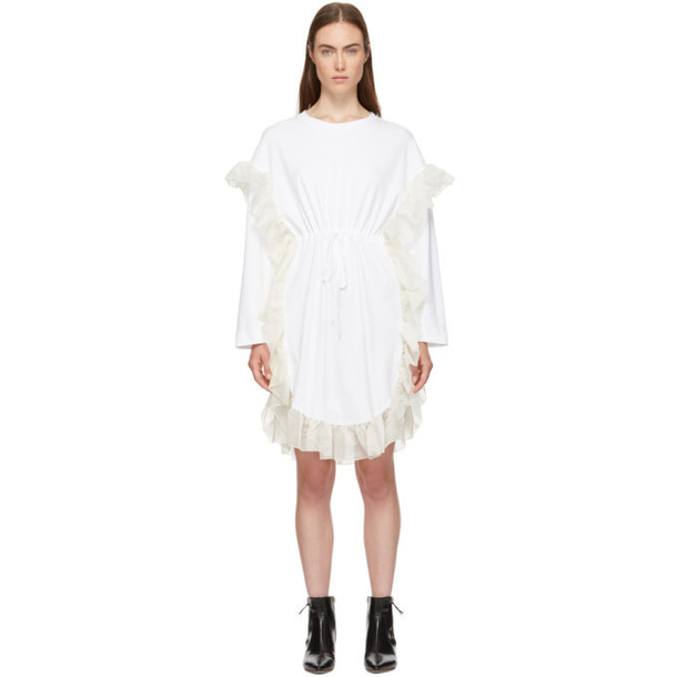 See by Chloé See by Chloé White Ruffle Jersey Dress