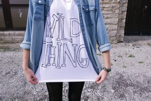 cotton shirt t-shirt hipster white wild