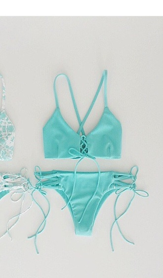 swimwear blue bikini aqua summer