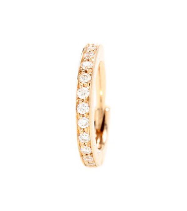 Repossi Mini Créole 18kt Rose Gold Single Earring With Diamonds