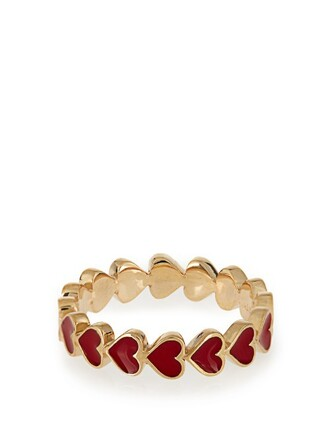 heart ring gold yellow red jewels