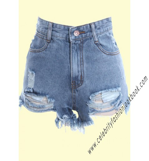 Destroyed Denim Shorts - All