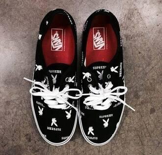 shoes high top sneakers vans playboy