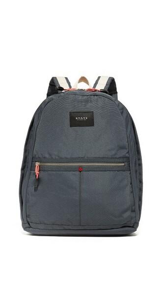 dark backpack grey bag