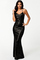 Black all oveall over sequin cross low back black gownr sequin low back gown