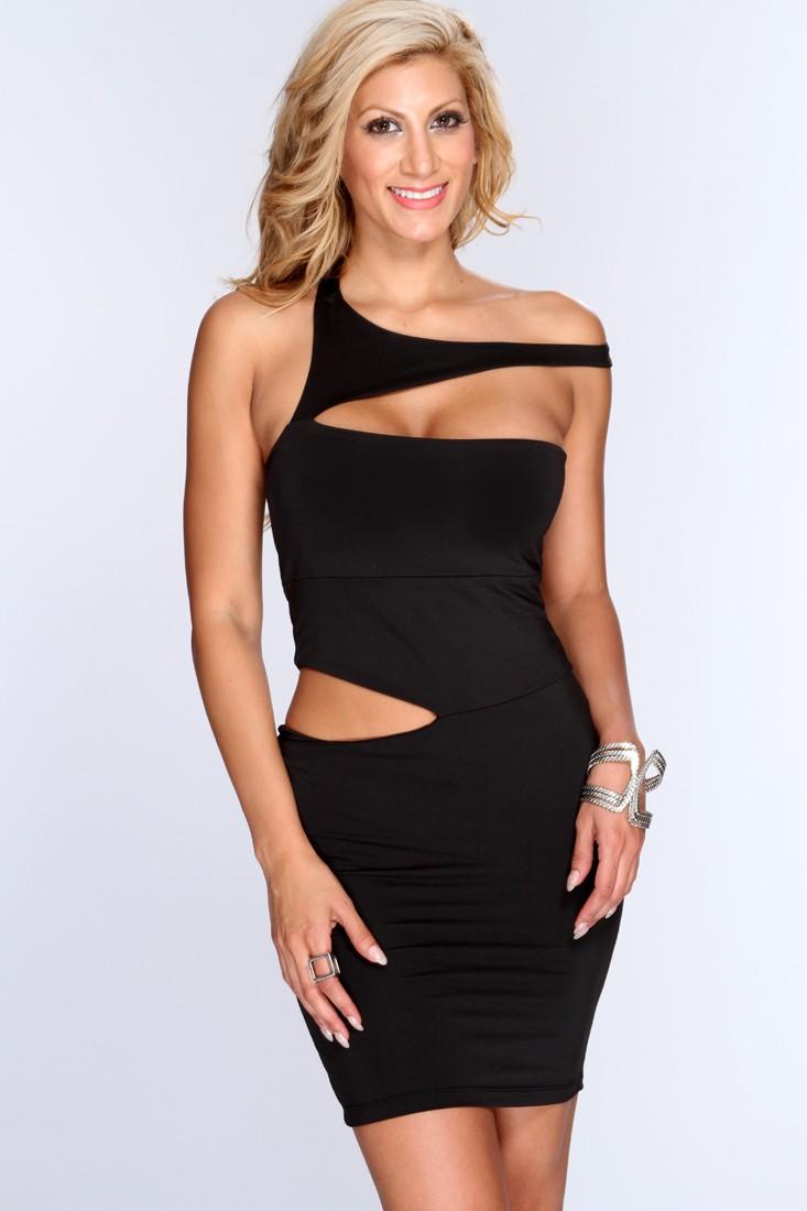 Black Cutout Sexy Body-Con Dress