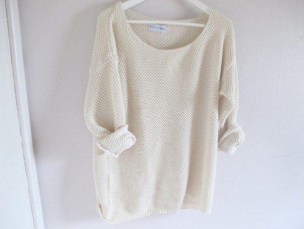 Sweater: knitwear, fashion, white, fall outfits, comfy, knitwear ...