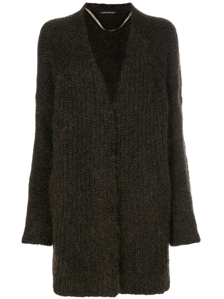 Luisa Cerano cardigan cardigan long open women mohair brown sweater