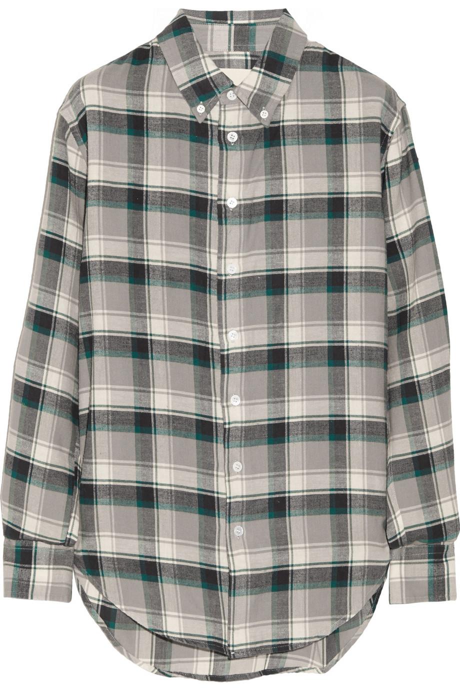 Flannel boyfriend shirt – 60% at the outnet.com