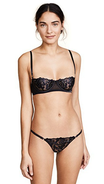 KENDALL + KYLIE bra mesh bra mesh black underwear