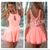 Coral Pink Lace Back Cut Out Panel Playsuit - Viva Glam Boutique