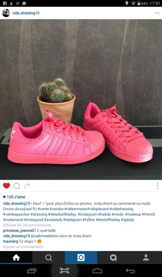 shoes rose fluo adidas