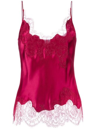 camisole women silk red underwear