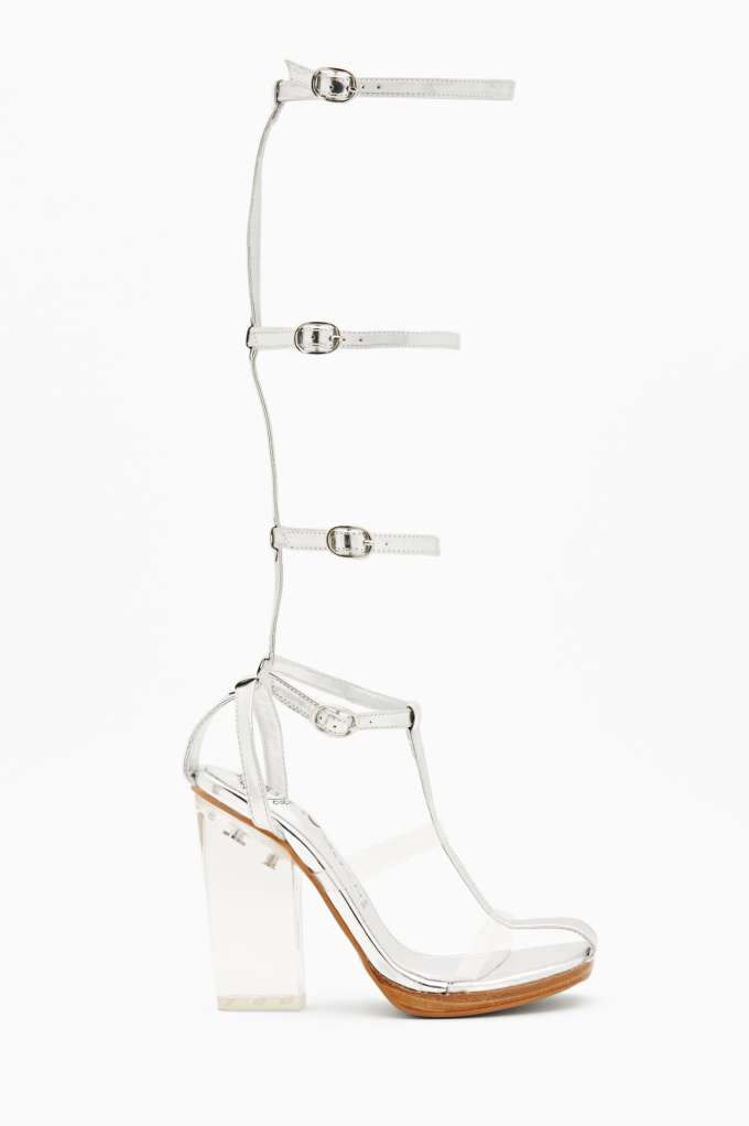 Jeffrey Campbell Lavish Gladiator Sandal - Silver | Shop Shoes at Nasty Gal