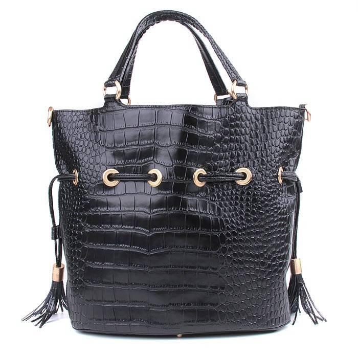 Cheap Lancel Premier Flirt Croc Veins Tote Bags Black,cheap lancel handbags