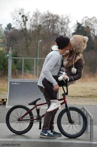 hat fashion beanie animal hat bmx love kiss cool fur faux fur soft hat bear hat bear beanie boy girl clothes dope hat couple fur hat sweater