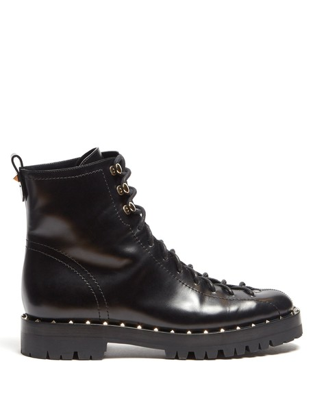 Valentino leather ankle boots ankle boots leather black shoes