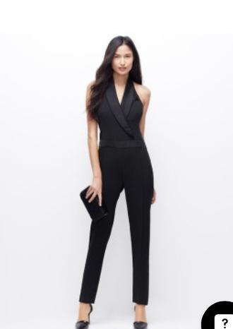 jumpsuit suit pantsuit blouse black jumper pants romper bodysuit bodycon dress