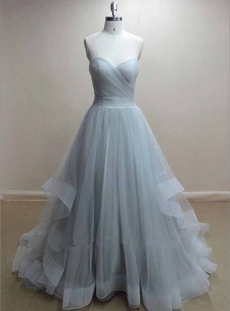 bustier dress prom dress blue dress tulle dress gown princess dress pll ice ball