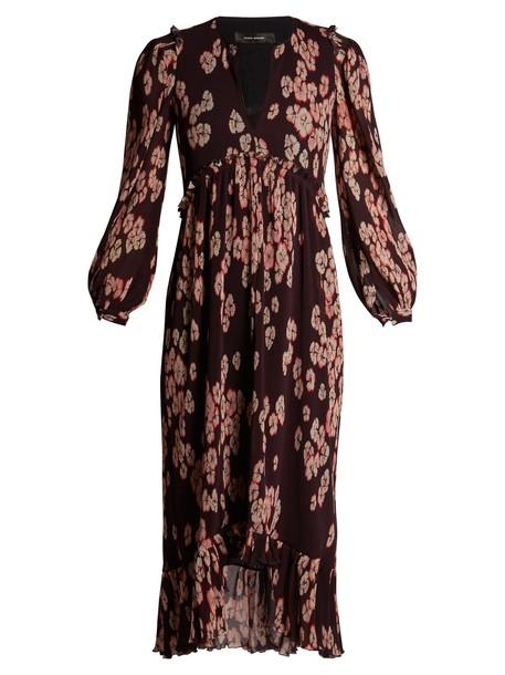 Isabel Marant dress pleated dress pleated floral print purple
