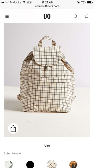 bag backpack checkered