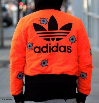 blouse adidas orange swag adidas jeremy scott jeremy scott black noir fashion bomber jacket