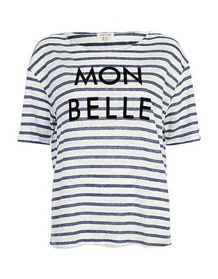 ASOS Fashion Finder | Blue stripe mon belle linen t-shirt