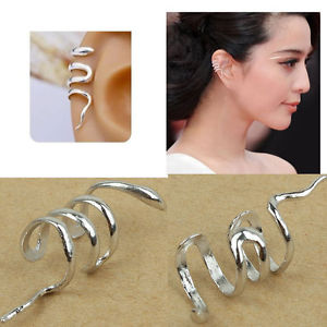 KPOP Korea Silver Snake Ear Wrap Cuff Earrings 1 PC Fashion New Punk | eBay