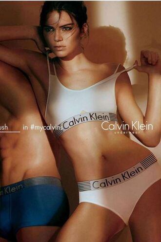 underwear calvin klein kendall jenner panties bralette bra