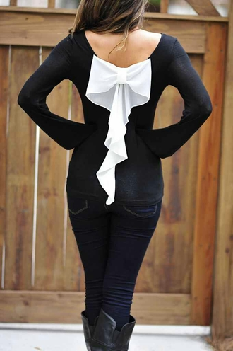 shirt black bows