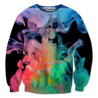 dope unique colorful fvmous clothing smoke clouds colorful clouds colorful smoke creative