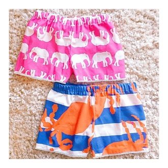 shorts prep preppy printed printed shorts