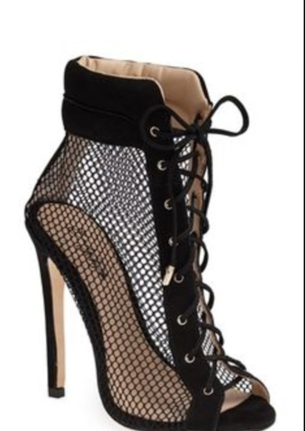 shoes really want these in 8.5!!!! black high heels lace up heels