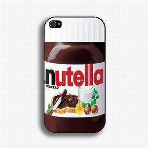 Nutella iPhone 4 4S Case iPhone 5 Case Hard Case Cover Black White ...