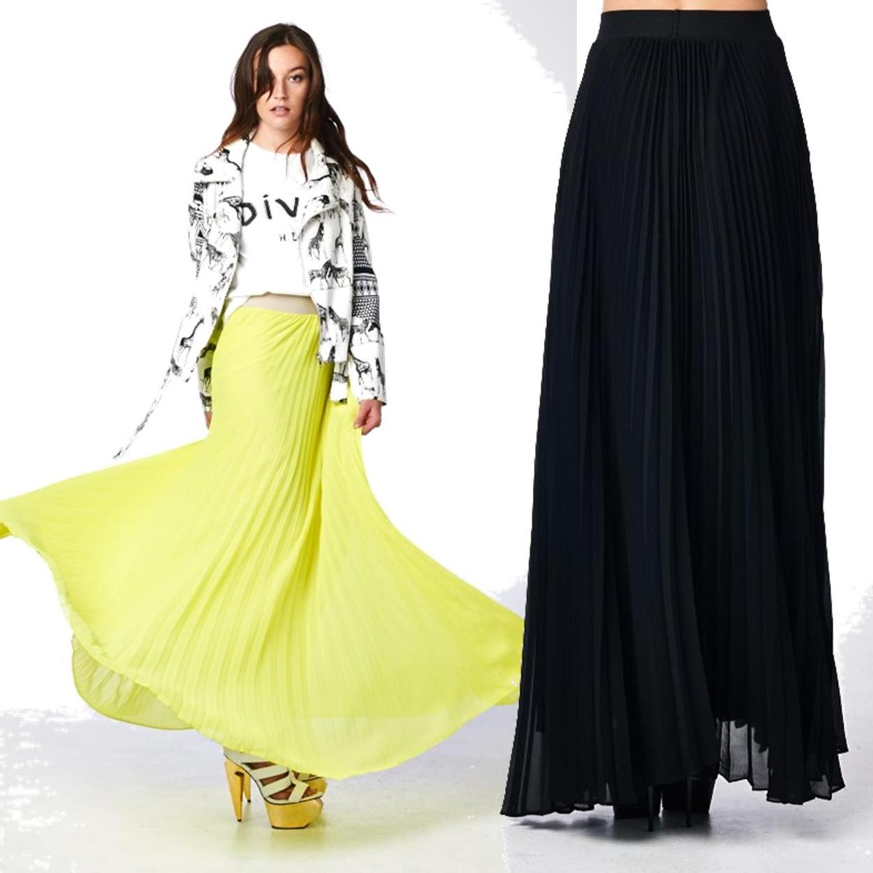 Pleated maxi skirt · trendyish · online store powered by storenvy