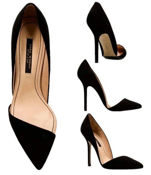 black  high heels black heels zara