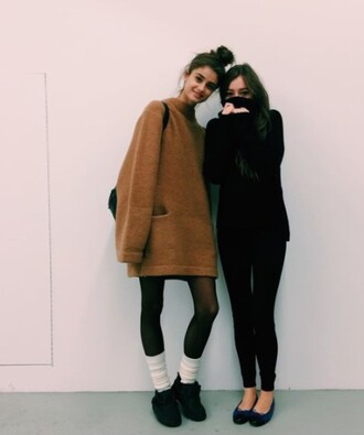 sweater yellow sweater oversized sweater sweaters with pockets taylor hill taylor marie hill shoes