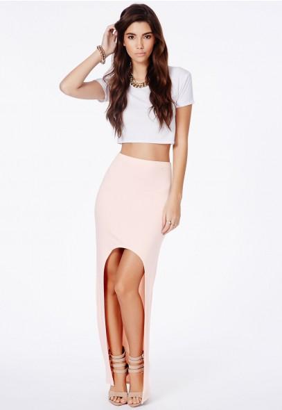 Mariola curve front maxi skirt