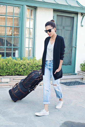 style me grasie blogger cardigan shoes sunglasses