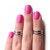 Love Double Knuckle Rings In Chrome Silver - Set Of 2 on Luulla
